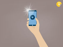 Taking picture with smartphone Royalty Free Stock Images
