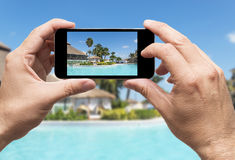 Taking picture of vacations Stock Photos