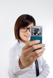 Taking picture via cellphone Royalty Free Stock Image
