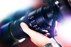 Taking Pictures. Telephoto Lens with Image Stabilization System ( VR Vibration Reduction ) Digital Photography Theme Stock Images