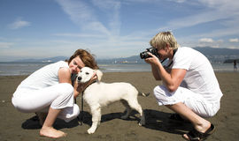 Taking pictures Stock Images