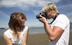 Taking Pictures Royalty Free Stock Photos