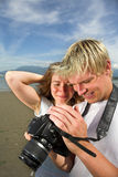 Taking pictures Royalty Free Stock Image