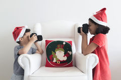 Taking pictures at Christmas Stock Images
