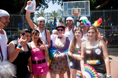 Taking pictures before the Pride Parade Stock Photography