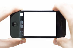 Taking pictures with smartphone Royalty Free Stock Photos
