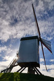 Taking pictures at a windmill in Bruges, Belgium Royalty Free Stock Photos
