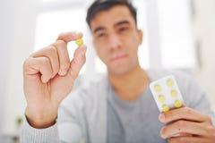 Taking pill Stock Photo