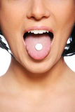 Taking pills Royalty Free Stock Photography
