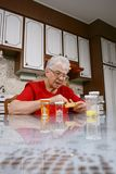 Taking pills Royalty Free Stock Image
