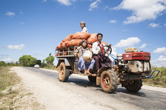Taking produce to market in Myanmar. Stock Images