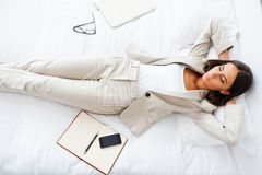 Taking rest hard working day. Royalty Free Stock Photography