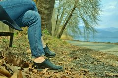 Taking a rest of a walk Stock Photo