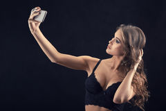 Taking a selfie Stock Images