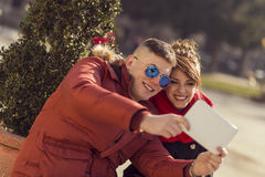 Taking Selfie Royalty Free Stock Images