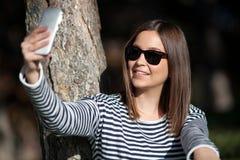 Taking selfie Stock Photo