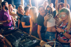 Taking selfie in the club Royalty Free Stock Photos