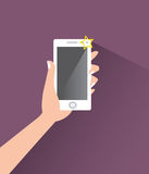 Taking selfie with flash Royalty Free Stock Photo