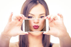 Taking selfie Royalty Free Stock Photos
