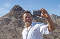 Taking a selfie Stock Photography