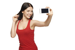 Taking selfie Royalty Free Stock Photo