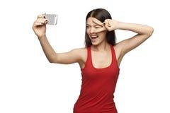 Taking selfie Stock Image