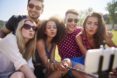 Taking a selfie Royalty Free Stock Photo
