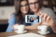 Taking selfie Stock Images
