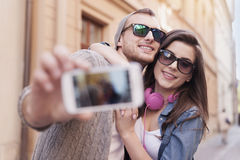 Taking selfie Royalty Free Stock Images