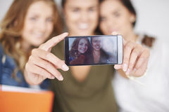 Taking a selfie Stock Photos