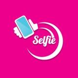 Taking Selfie Photo on Smart Phone concept icon Royalty Free Stock Photos