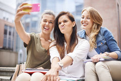 Taking a selfie Royalty Free Stock Photos