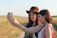 Taking Selfie Royalty Free Stock Photography