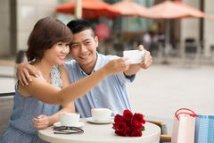 Taking selfie Stock Photography
