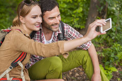 Taking a selfie Royalty Free Stock Images