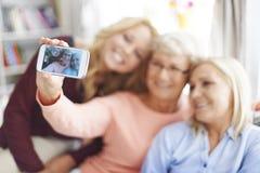 Taking selfie Stock Photography