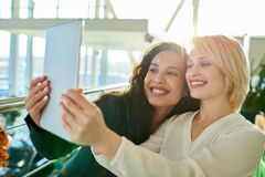 Taking Selfie With Best Friend Royalty Free Stock Image