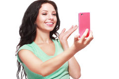 Taking selfies Stock Photography