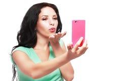 Taking selfies Royalty Free Stock Image