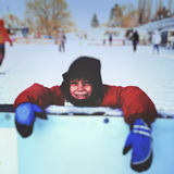 Taking a short break after skating Stock Image