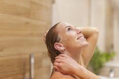 Taking shower Royalty Free Stock Image