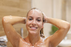 Taking shower Royalty Free Stock Photos