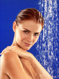 Taking a shower Royalty Free Stock Photography