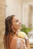 Taking shower Stock Photography