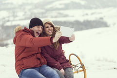 Taking slefie Royalty Free Stock Photography
