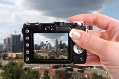 Taking snapshot of Calgary Royalty Free Stock Photos