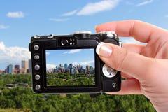 Taking snapshot of Calgary Stock Images