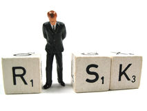 Taking some risk. A manager is taking some risk stock photography