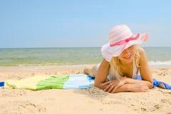 Taking a sunbath Stock Photography