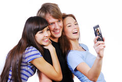Taking their self-portrait Royalty Free Stock Photography
